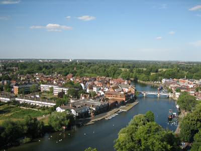 eton from the air