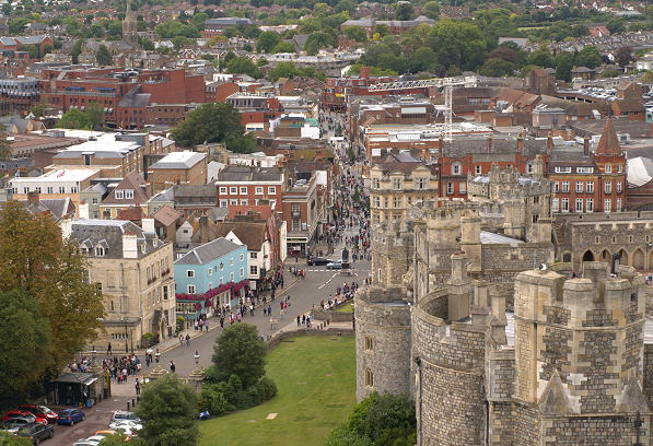 monarch's eye view of Windsor