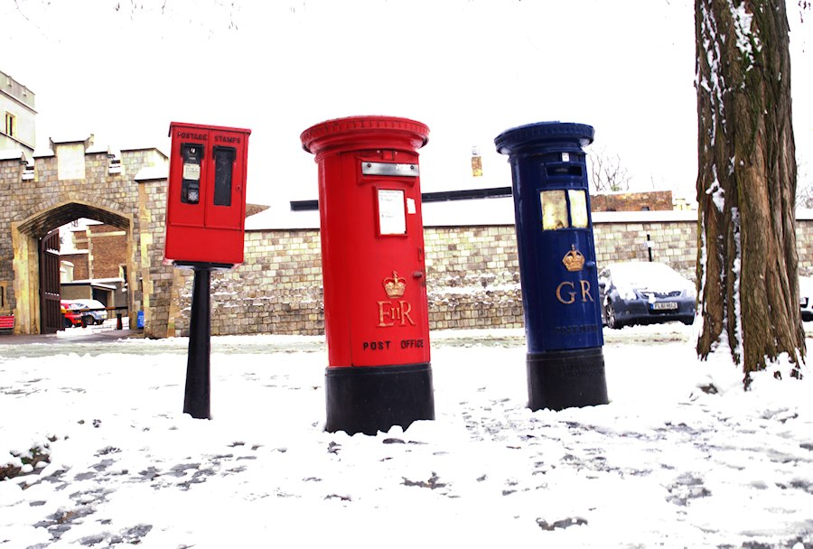 Windsor Postboxes in the snow