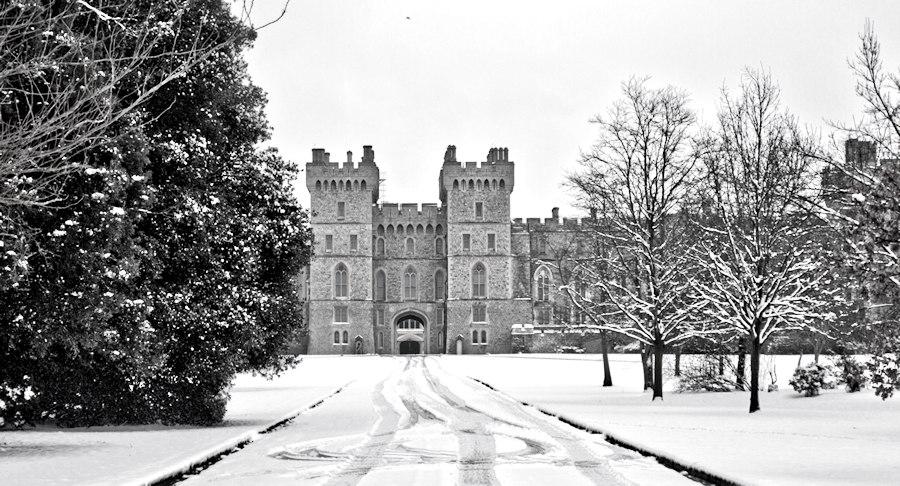 View of Windsor Castle from The Long Walk near Park Street Jan 2013