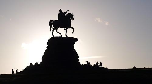 copper horse silhouette