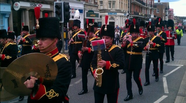 military band in windsor street