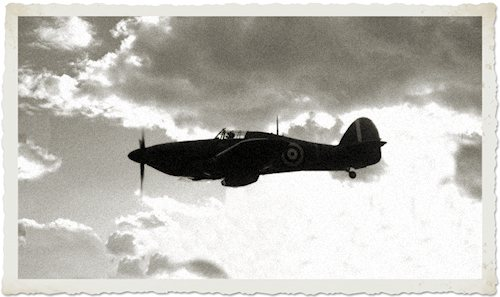 Hawker Hurricaine in flight