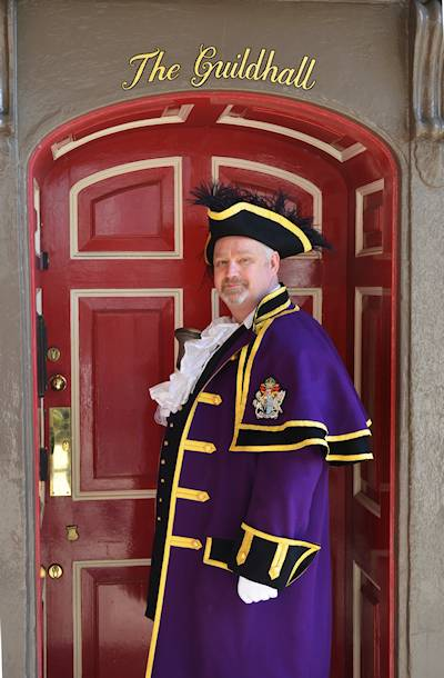 town crier at windsor guildhall