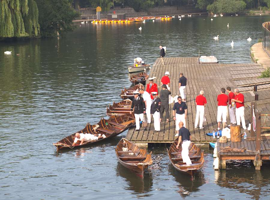 swan uppers preparing