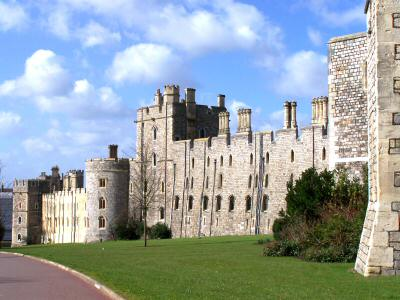 Windsor Castle's Fortifed Walls