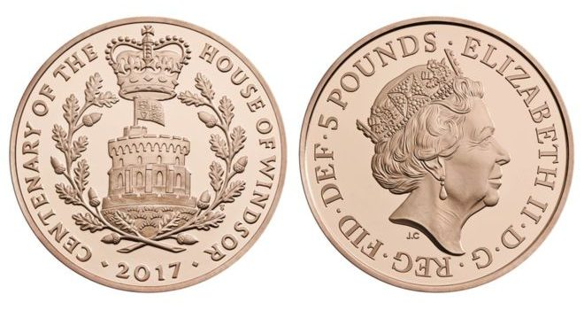 New Windsor Five Pound Coin Released