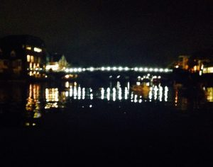 Windsor Bridge at night