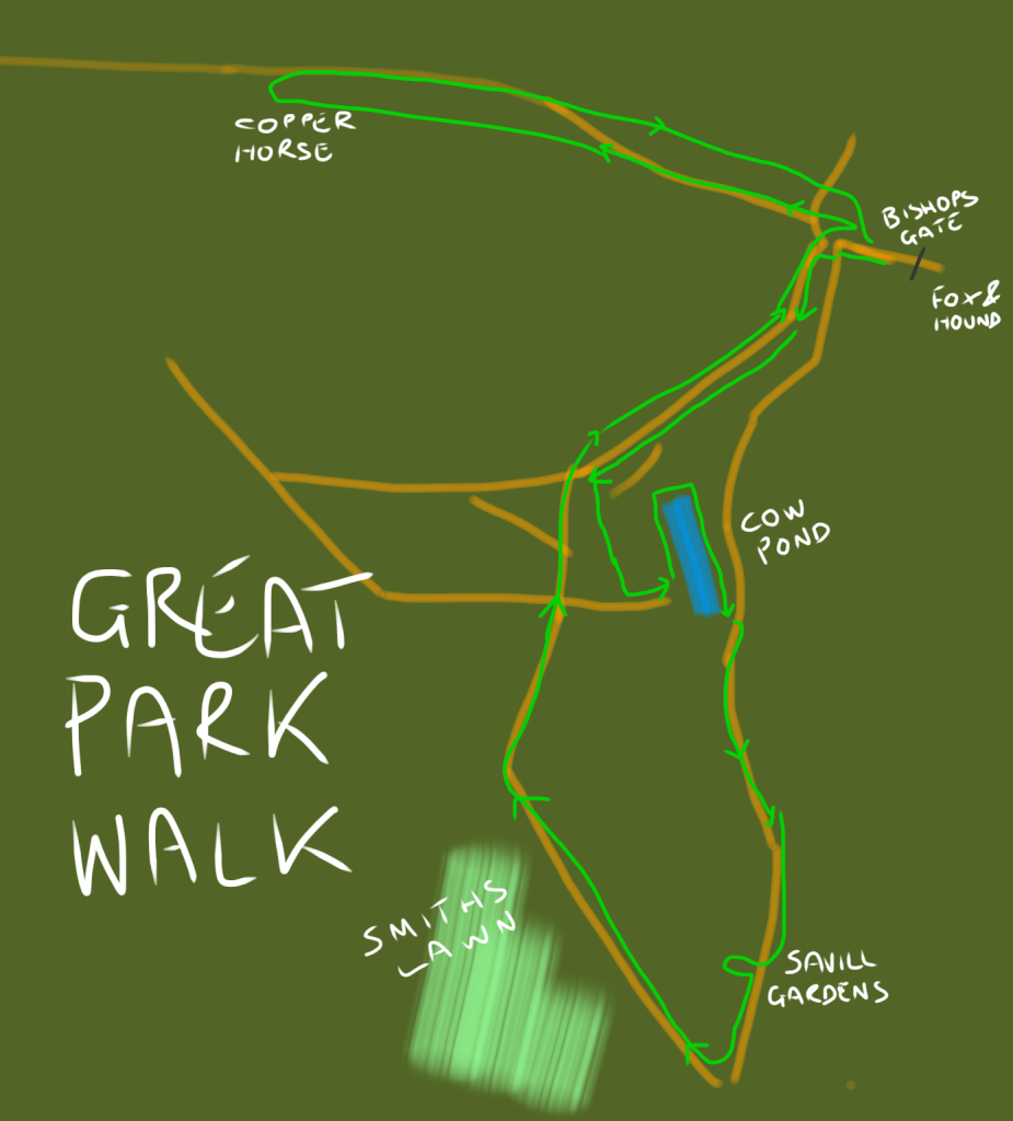 Great park walk map
