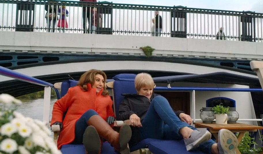 Jane Mcdonald beneath Windsor bridge